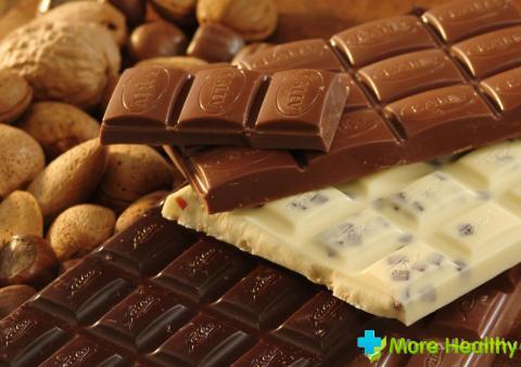 Белый и молочный шоколад