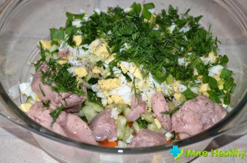 Фото 2 - Салат из печени трески