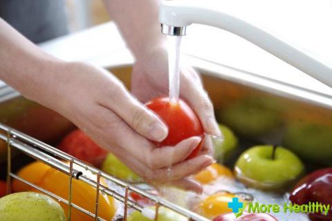 Очищение овощей
